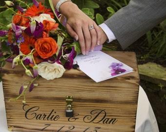 Rustic Country Wedding Wine Ceremony Box Keepsake Love Letter Personalized bride & groom Anniversary barn weddings Wine bottle holder