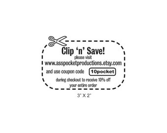 Create Your Own Coupon Rubber Stamp AD360