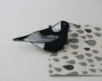 Australian Birds - Australian Magpie Pin