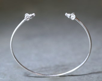 Ram Cuff Bracelet  in Sterling Silver