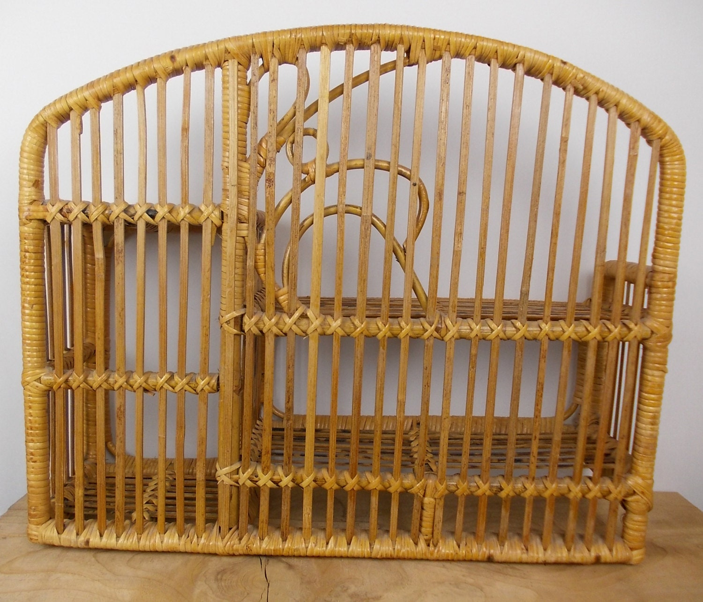 Vintage Bamboo Shelf Rattan Wall Shelf Wicker Furniture