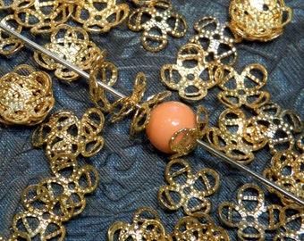 Vintage Bead Caps Gold Metal Supply