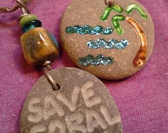 SAVE CORAL BAY Benefit Key Chain