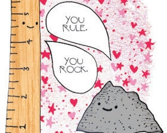 Rock and Rule Valentine's Day card