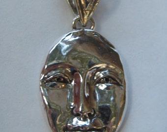 Sterling Silver  Face Pendant  ..........                      e756
