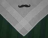 Mustache Handkerchief Ships FREE in the US with a Free gift box.