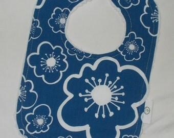 Blue Bella Flower and Chenille Bib
