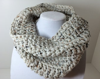 SALE - Ivory Wheat Cowl Neckwarmer