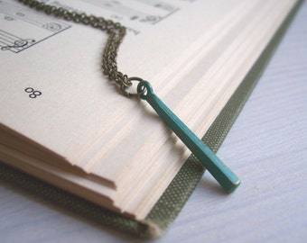 Simplicity little bar necklace - mixed metal charms for layering - minimalist jewellery