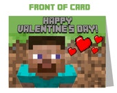 Minecraft Valentine's Day Photo Treat Bag Toppers Card - You Print