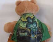 Child Cape or Apron: Incredible Hulk Handmade by Fashion Green T Bags