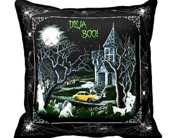 "Halloween home decor pillow ""Haunted Inheritance"""