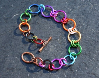 Simple Rainbow Bracelet