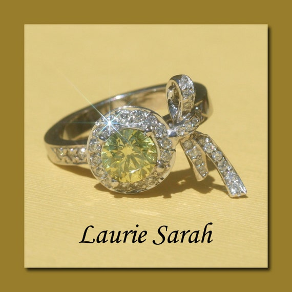 Canary Diamond Designer Bow Ring - Laurie Sarah Designs Exclusive - LS717