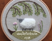 Sheep Crewel Embroidery Pattern and Kit