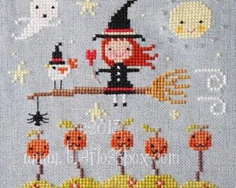 Halloween Ride Cross Stitch Pattern