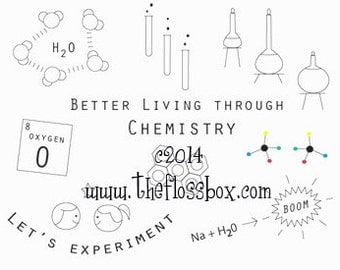 Chemistry Embroidery Pattern