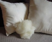 Pure Organic Eco Wool Pillow Inserts, Canada, Organic Cotton, Pillow Forms, Cushion Insert