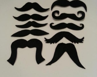 50 Pack Adhesive Felt Mustache Pack, Adhesive Mustaches, Black Mustache, Homecoming Moustache, Moustache, Mustache Party Favors