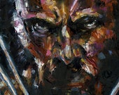 Original painting of X-Men superhero Wolverine