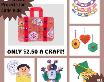 KIDS ART PROJECTS - 6 Craft Kits for Little Kids - All Supplies Included! - No Mess, No Fuss Crafts for Trips and Traveling