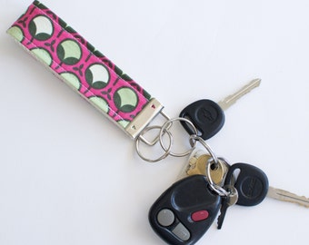 Pink Buds Fabric Key Fob - You Choose Size