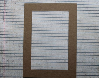 3 Rectangle Chipboard Frame Diecuts opening 3 1/2 inches wide x 5 1/2 inches tall