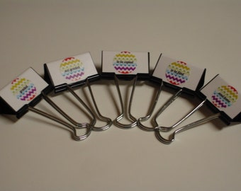 TEACHER ORGANIZERS Binder Clips Rainbow Chevron