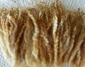 Wool locks sale buy 3 get 1 free Buff separate curls hand-dyed 1 oz.
