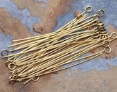 10 Antique Gold 2 inch Eye Pins -  Nunn Designs LOW SHIPPING