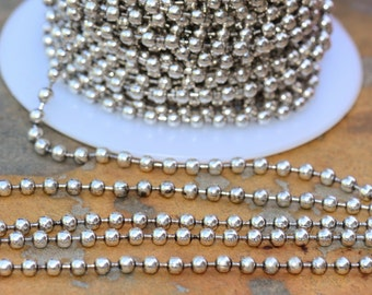 3 ft Antique Silver 2.4mm Ball Chain