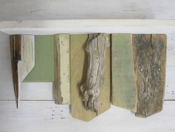 Items similar to recycled wood shelf driftwood shelf for Driftwood wall shelves
