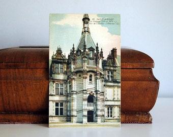 Antique French Postcard, World War I Card, Military Memorabilia, Saint Aignan Chateau, Architecture, French Castle, Man Cave Decor, supplies