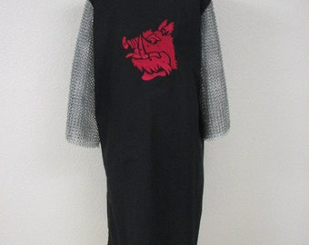 Monty Python Holy Grail Inspired Black Knight Medieval Surcoat Tabard Tunic