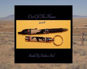 Bead PATTERN Mustang G2 Pen Wrap Tubular Peyote Stitch