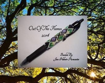 Bead PATTERN Ausra G2 Pen Wrap Peyote Brick Stitch