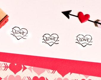 Love Postmark Rubber Stamp