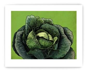 "Set of 3 Decorative Vegetable Art Reproductions: 8"" x 10"""