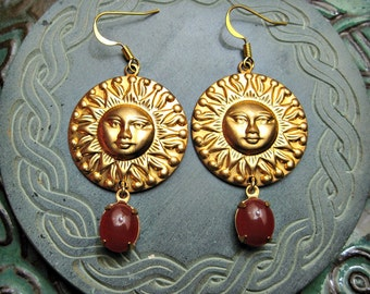 SUN DROPS Earrings .....solar magick and mystery jewelry
