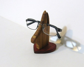 Eyeglass Holder Made Of Two Woods