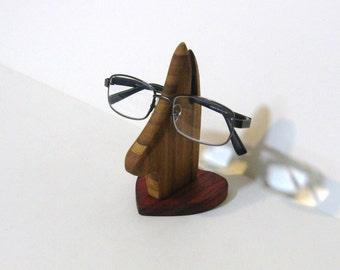 Eyeglass Holder Made Of Bamboo And Padauk Woods