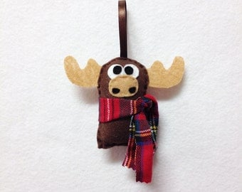 Ornament, Christmas Ornament, Christmas Decoration, Felt Ornament, Moose, Woodland Animal, Gifts for Kids, Gifts under 10, Stocking Stuffer