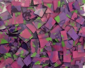 Mosaic Tile HP Purple pink lime stained glass Mosaic Tiles