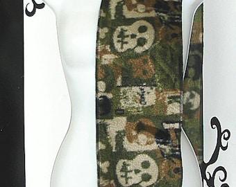Green Skull Camo Camouflage Fleece Scarf MTCoffinz