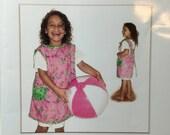 Kids Art Smock Apron Sewing Pattern sizes 2 through 10