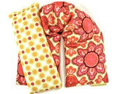 Therapeutic Neck Shoulder Wrap Eye Pillow Set- Organic Flaxseed Rice-Heating Pad-Heat Pack-Microwaveable