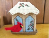 BIRD FEEDER Tissue Box Cover