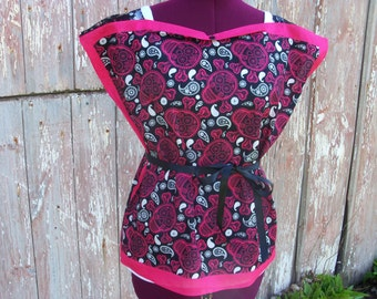 Black and Pink Skulls Bandana Top Size S/M/L One Size