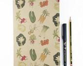 Vegetables A5 plain notebook
