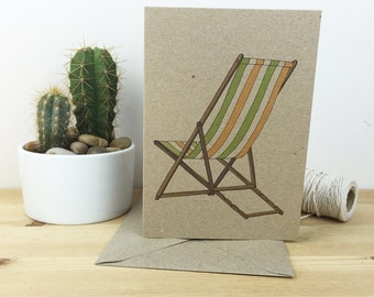 deckchair card (100% recycled)